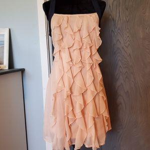 A'reve Romantic Flowy Ruffle Polyester Dress